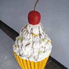 Cupcake blanc 100cm