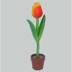 Tulipe jaune orangée 96cm