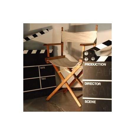 Chaise blanche de réalisateur 90cm