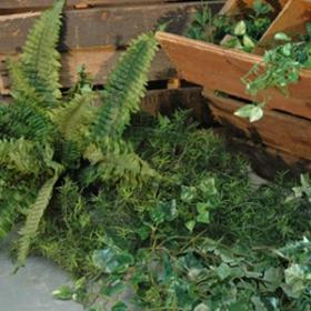Caisse plantes artificielles