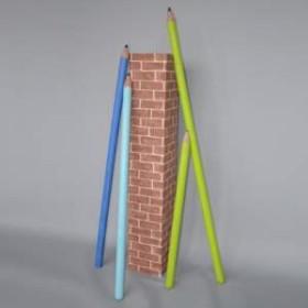 Colonne en brique 165cm