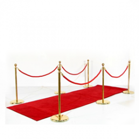 Entrée VIP: tapis rouge, potelets, cordons