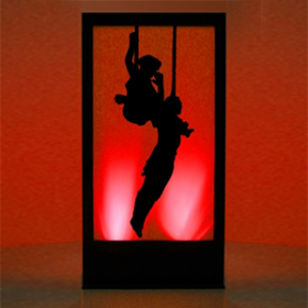 Panneau lumineux Cirque Acrobates 2 200 cm