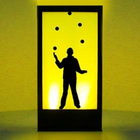 Panneau lumineux Cirque Jongleur 200cm