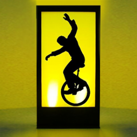 Panneau lumineux Cirque Monocycle 200cm