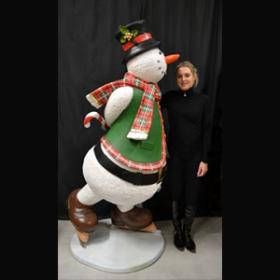 Bonhomme de neige patins 185cm