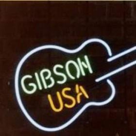 """Néon guitare """"Gibson USA"""" 84cm"""