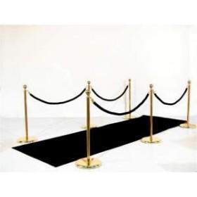 Entrée VIP: tapis noir, potelets, cordons