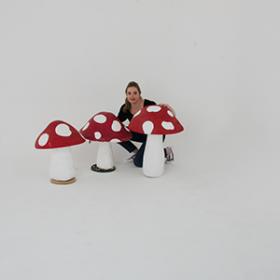 Champignon rouge et blanc 50cm