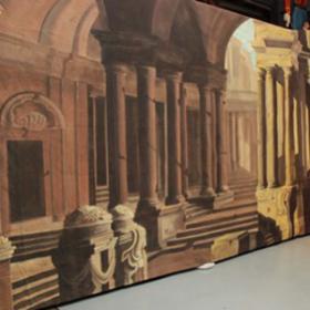 Paysage urbain sur toile 350cm