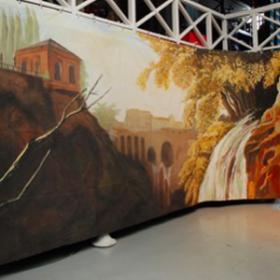 Paysage sur toile 250cm