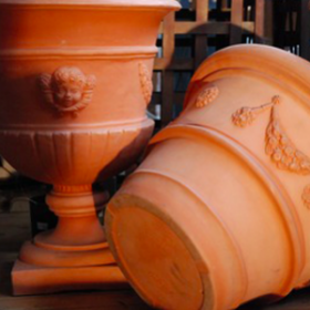 Vase en terre cuite 58cm