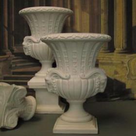 Vase blanc en pierre 100cm