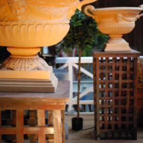 Vase ovale en terre cuite 75cm
