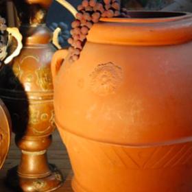 Vase, bol en terre cuite 60cm