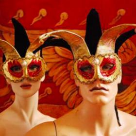 Masque Harlequin 25cm