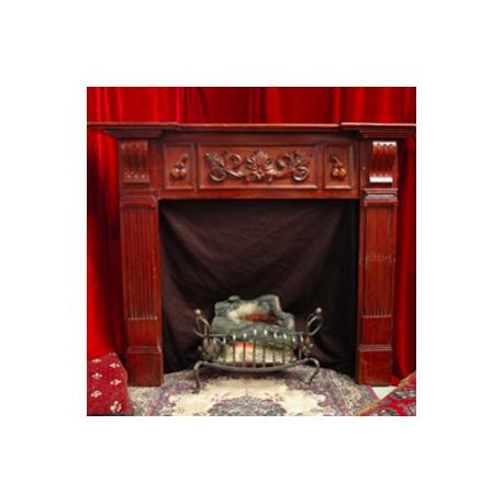 po le bois chemin e 124cm pour vos d cors sur le th me de noel et de l 39 hiver libdeco. Black Bedroom Furniture Sets. Home Design Ideas