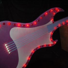 Néon guitare 420cm