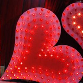 Coeur lumineux 155cm