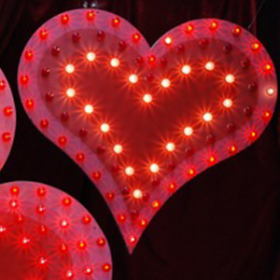 Coeur lumineux 120cm