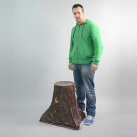 Tronc d'arbre, siège 60cm