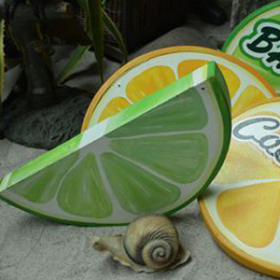 Demi-tranche citron 87cm