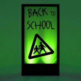 Panneau lumineux Back to school 200cm