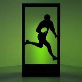 Panneau lumineux rugbyman