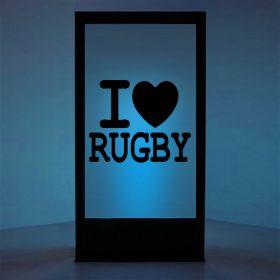 Panneau lumineux I love rugby