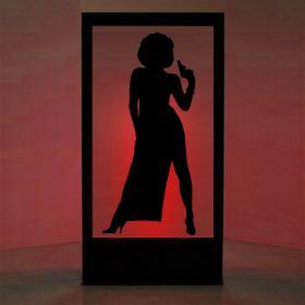 Panneau lumineux James Bond Girl