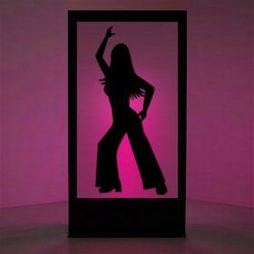 Panneau lumineux Disco Girl