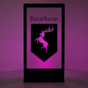 Panneau lumineux Blason maison Baratheon (Games of Thrones)