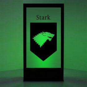 Panneau lumineux Blason maison Stark (Games of Thrones)