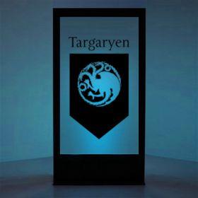 Panneau lumineux Blason maison Targaryen (Games of Thrones)