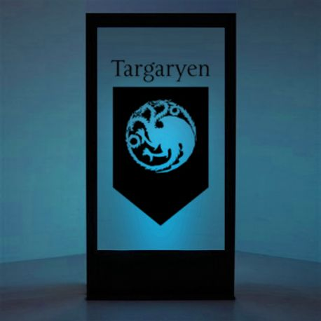 panneau lumineux blason targaryen game of thrones 200cm libdeco sp cialiste de la. Black Bedroom Furniture Sets. Home Design Ideas