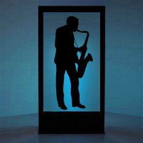 Panneau lumineux Saxophoniste