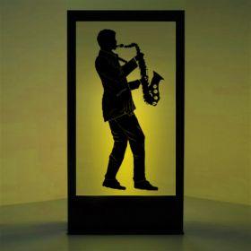 Panneau lumineux Saxophoniste 2
