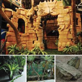 Ilot de décoration ruines au lions