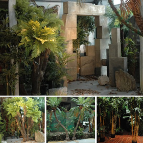 Ilot de décoration ruines jungle