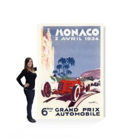 Affiche géante grand prix de Monaco 1933