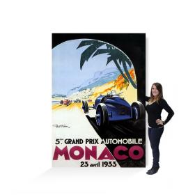 Affiche géante grand prix de Monaco 1934