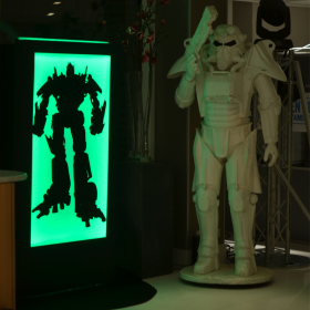 Robot blanc de 210 cm