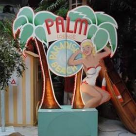 Panneau lumineux Palm Lounge 300cm