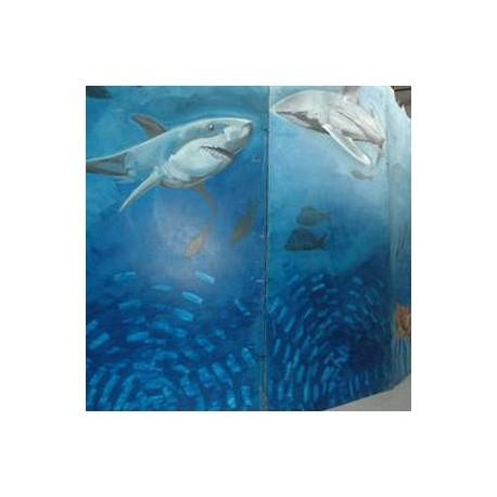 Panneau Monde sous-marin 240cm