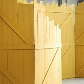 Panneau en bois jaune 100cm