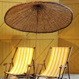 Parasol bambou 210cm