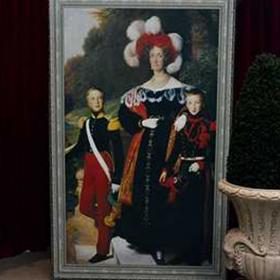 Peinture Portrait Dame et ses Princes
