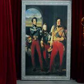 Peinture Portrait Gardes Royaux