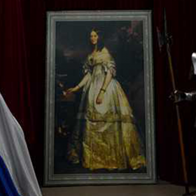 Peinture Portrait Princesse Catherine