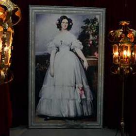 Peinture Portrait Princesse Rose